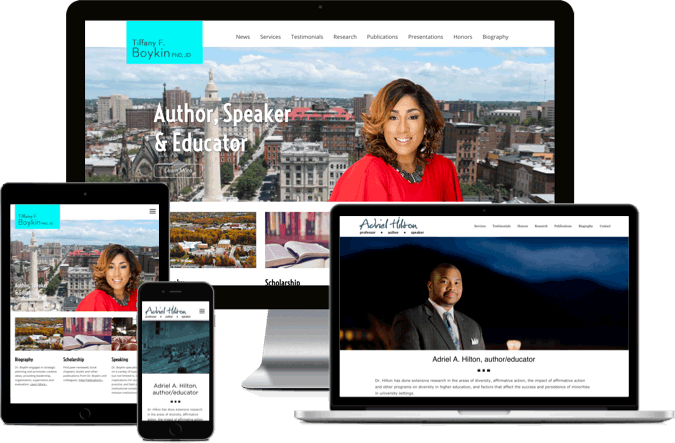 Featherlight Websites - Academic - Tiffany Boykin Ph.D, JD